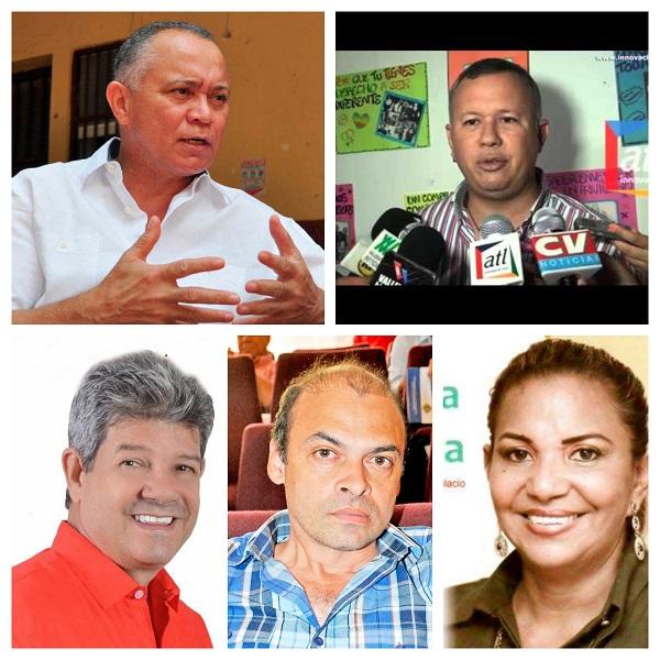 Fredys Socarrás, Henry Chacón, Henry Oñate Fragozo, Juan Carlos Araújo y Olga Rojas Trespalacios