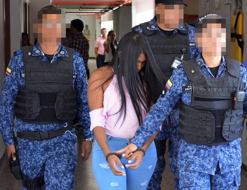 Osmeidy Navarro asistió a la diligencia en el Palacio de Justicia.   FOTO: SERGIO MCGREEN