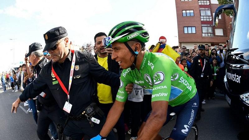 Nairo Quintana se ubicó de segundo en la general de la Vuelta a España, tras disputarse la etapa 17.   FOTO: CORTESÍA
