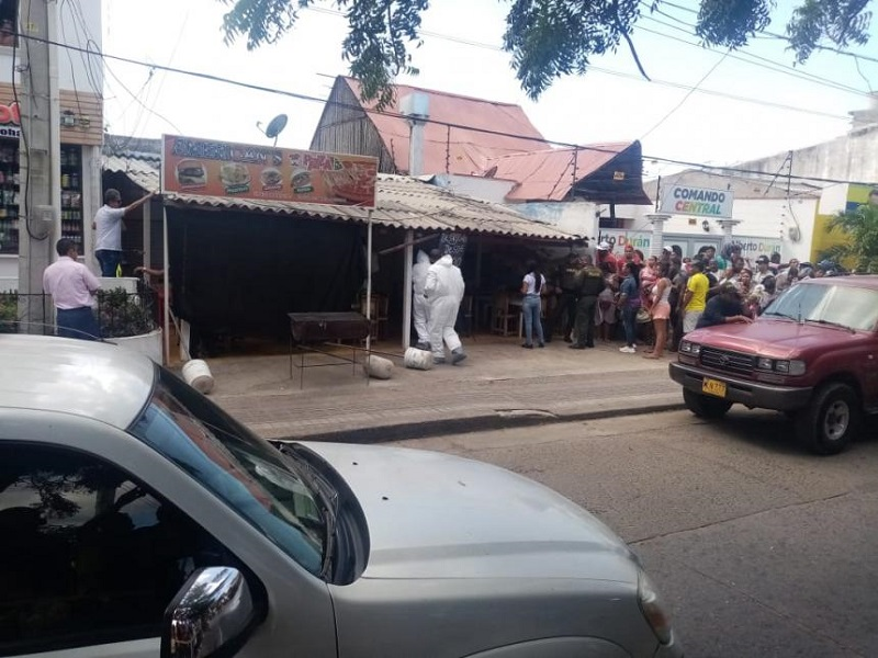 Los hechos se registraron en un restaurante de Riohacha, La Guajira.  FOTO: CORTESÍA.