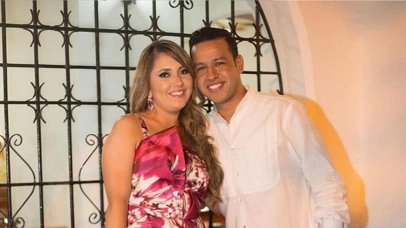 Dayana Jaimes junto a su esposo Martín Elías Díaz.  Foto: Cortesía.