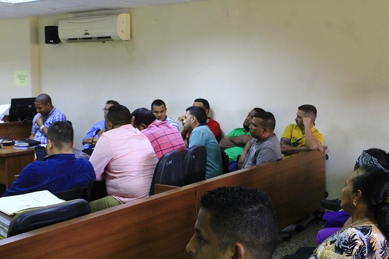 Los implicados fueron presentados a los estrados judiciales de Valledupar.   FOTO/ JOAQUÍN RAMÍREZ