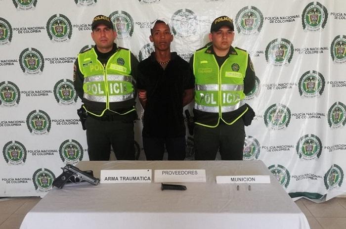 Luis Eduardo Lagos cuando fue capturado.   FOTO/JUDICIAL
