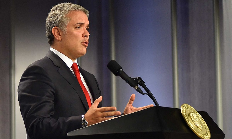 Iván Duque Márquez, presidente de Colombia.   FOTO/PRESIDENCIA DE COLOMBIA.