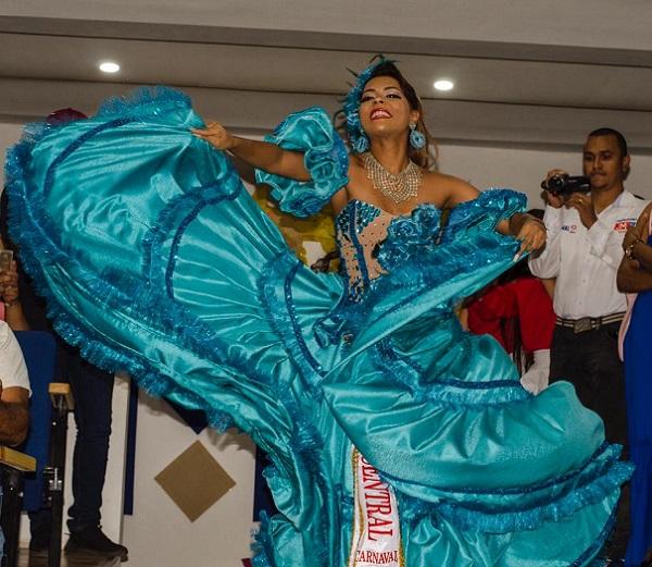 María Alejandra Viloria, reina central del Carnaval 2020. FOTO/SUMINISTRADA..