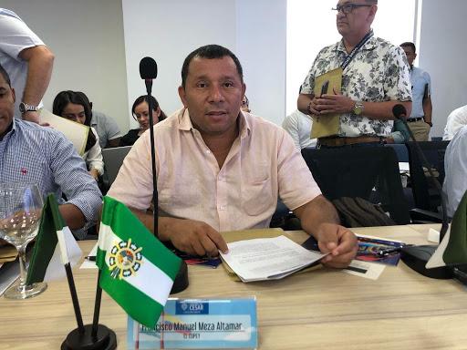 Francisco Meza Altamar, alcalde de El Copey.   FOTO/CORTESÍA.