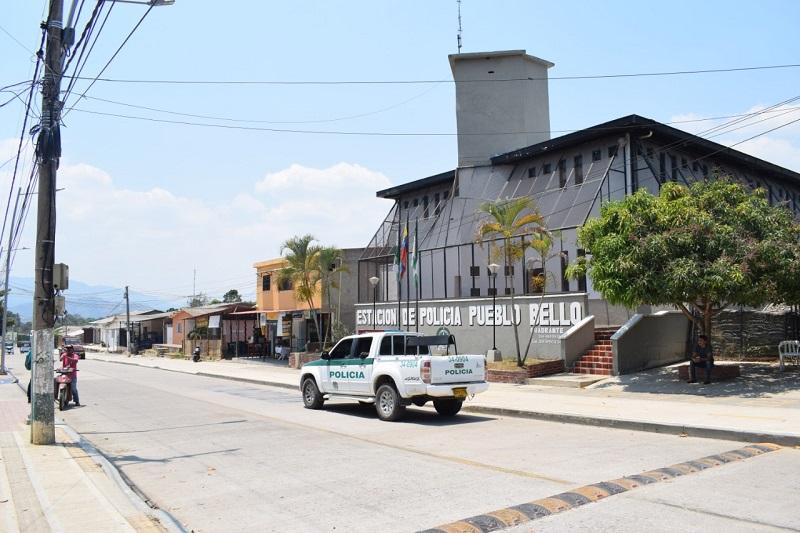 La Estación de Policía de Pueblo Bello también fue atacada esta semana.   FOTO/JOAQUÍN RAMÍREZ.
