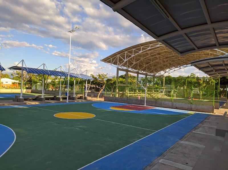 El parque principal del barrio Garupal sería la sede de las competencias de voleibol arena.  FOTO/JOAQUÍN RAMÍREZ.