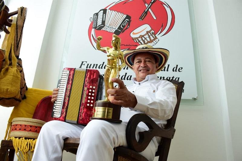 Manuel Vega Vásquez, rey vallenato 2020.   FOTO/CORTESÍA.
