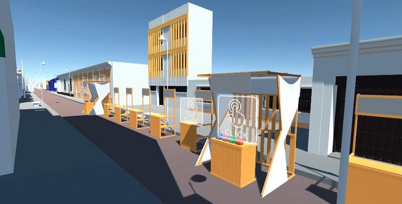 Los cibernautas recorrerán el Centro Histórico de Valledupar durante el Festival de la Quinta.      FOTO/CORTESÍA.