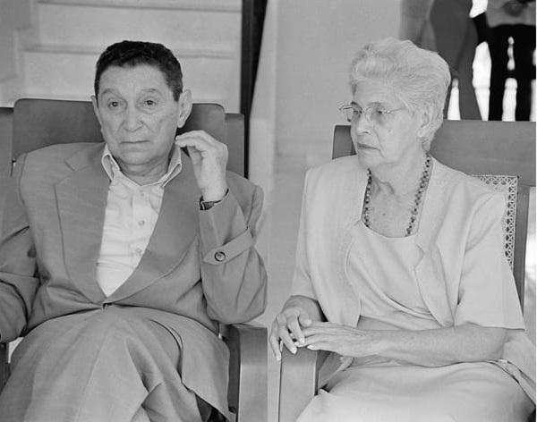 Rafael Escalona Martínez y su musa, Marina Arzuaga, 'La Maye'.   FOTO/CORTESÍA.