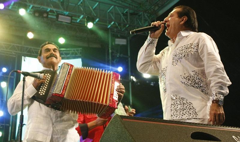 Miguel López y Jorge Oñate, dos grandes guerreros del folclor vallenato.   Foto: Cortesía/EL PILÓN.