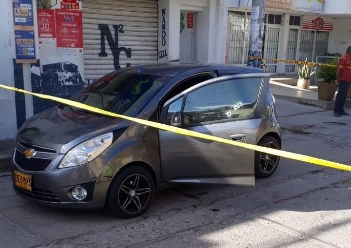 En este carro se movilizaba el nariñense.  FOTO/CORTESÍA.