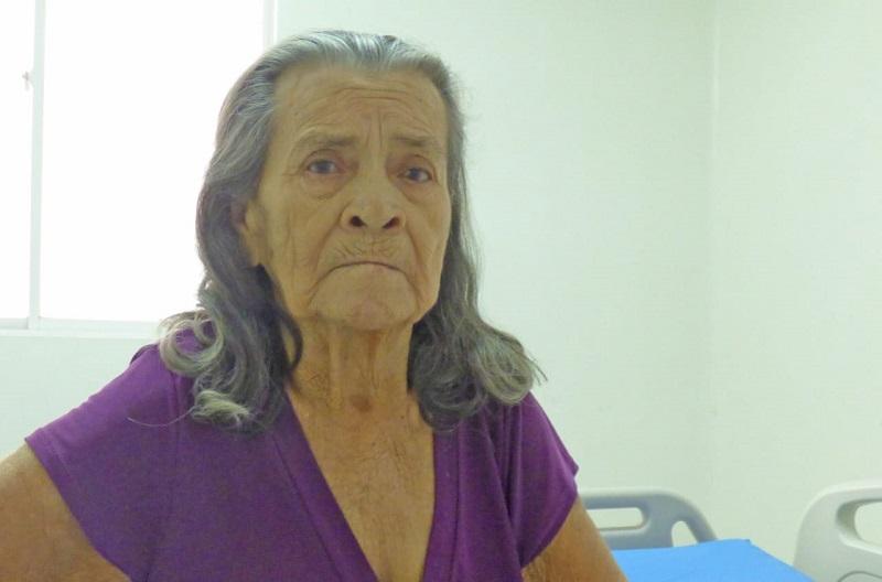 María Inés Vargas de 78 años. Sus familiares se niegan a cuidar de ella.   FOTO/CORTESÍA.