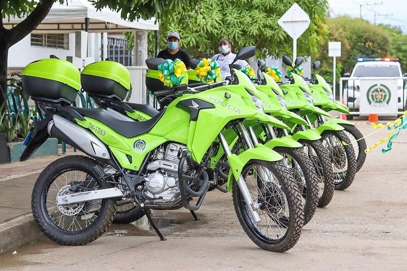 La dotación fue de cinco motos.  FOTO/CORTESÍA.