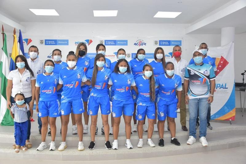 Real Femenino hace parte de los clubes que representarán a la región Caribe en el torneo de fútbol de salón que se disputará en Cali.   FOTO: CRISTIAN NIEVES.