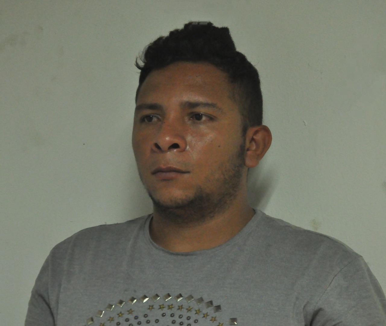 Sneider Enrique García, detenido.