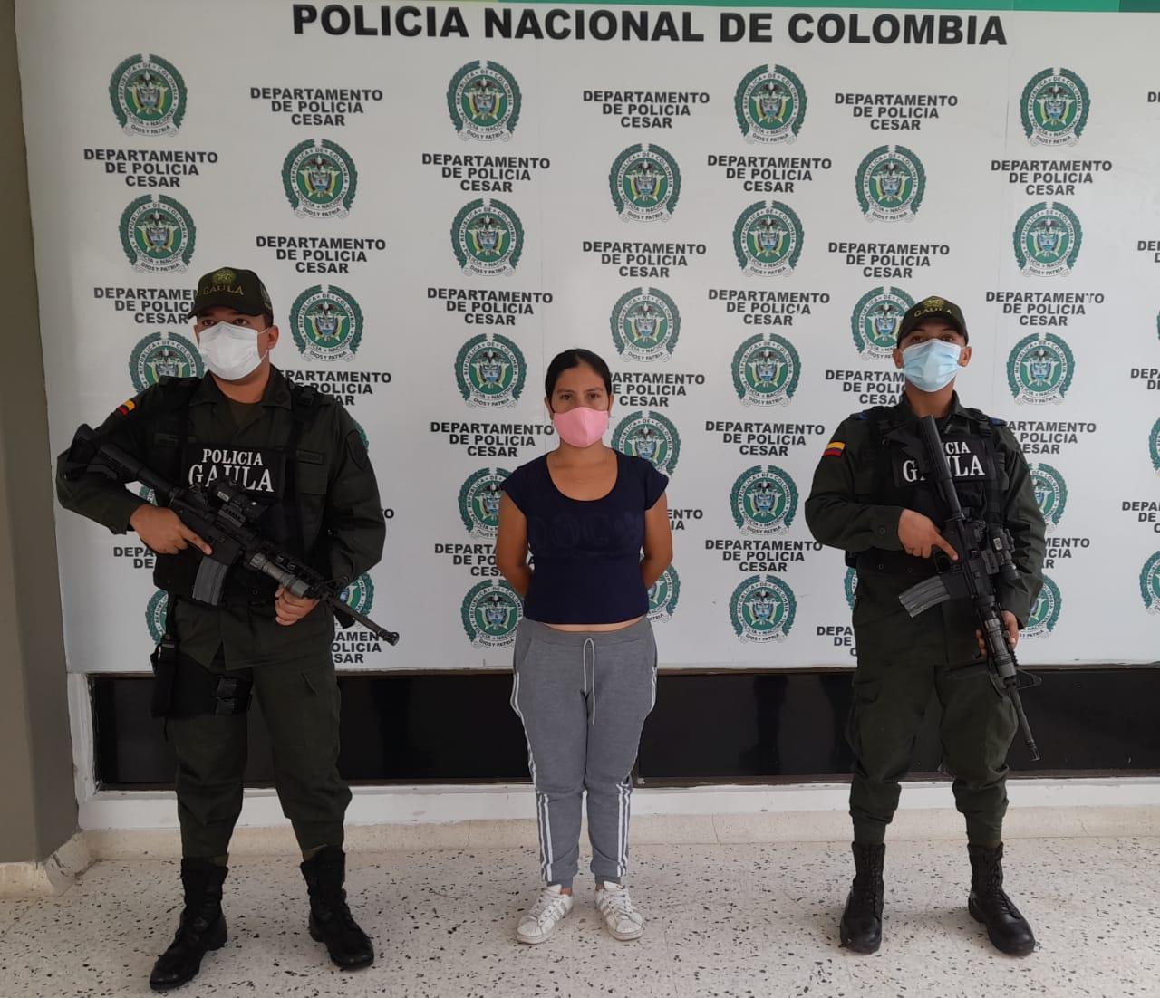 Kelly Uribe fue detenida por el Gaula de la Policía.