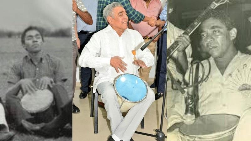 Rodolfo Castilla es considerado el mejor de los cajeros del folclor vallenato.    FOTO: CORTESÍA.