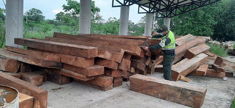 La madera quedó a cargo de Corpocesar.