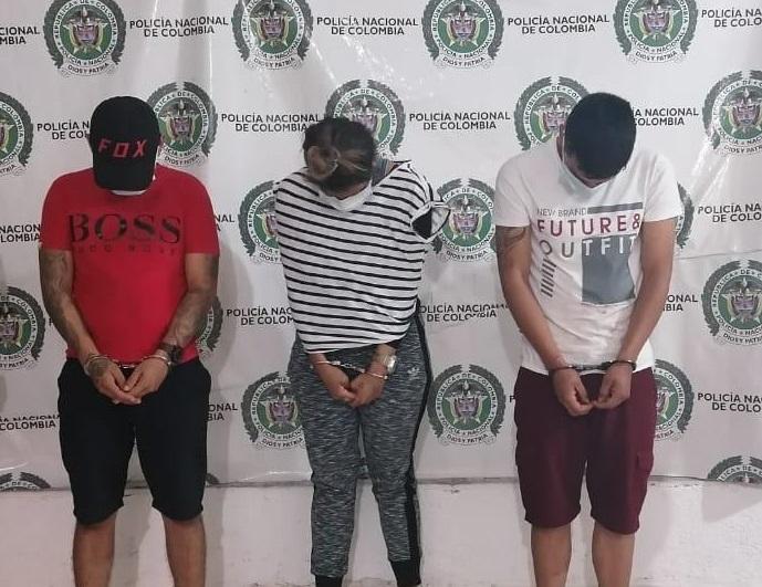 Los detenidos en la estación de Policía.
