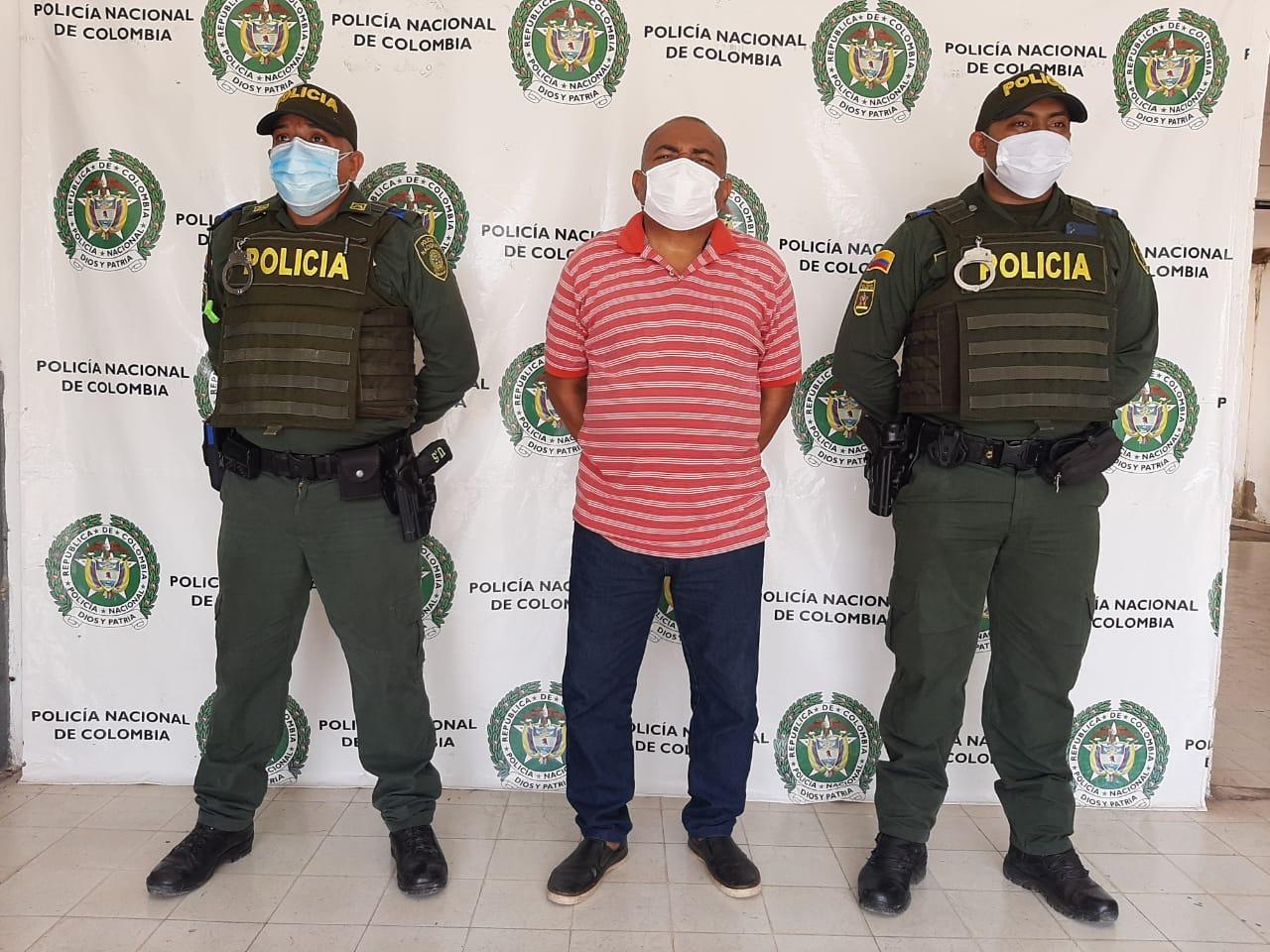 Walter García fue detenido por los policías de Casacará.