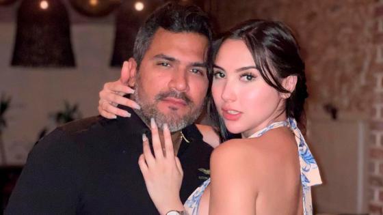 Aida Victoria Merlano y su novio Lumar Alonso.   FOTO: CORTESÍA.