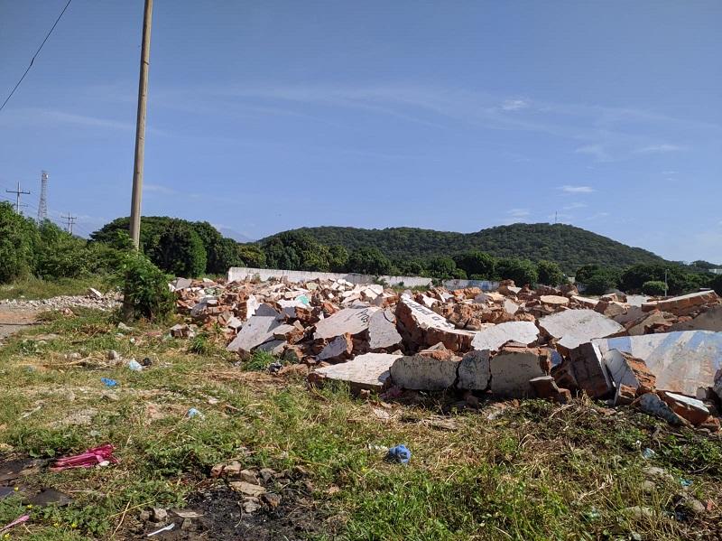 A escombros quedó reducido uno de los escenarios deportivos más icónicos de Valledupar.   Foto: JOAQUÍN RAMÍREZ/EL PILÓN.