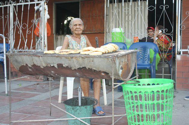 María Iberia Ustáriz Ramos, 'La Bella', falleció la madrugada de este martes a los 92 años en su vivienda, diagonal a la Clínica Médicos de Alta Complejidad.   FOTO: CORTESÍA.