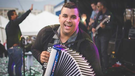 Rolando Ochoa, acordeonero.   FOTO: CORTESÍA.