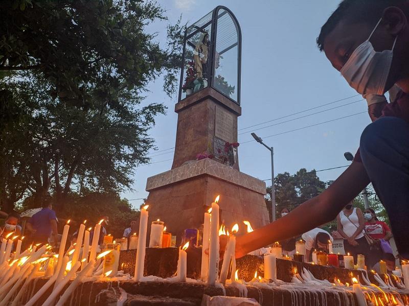 Los feligreses se reencontraron con la virgen del Carmen. FOTO: Joaquín Ramírez.
