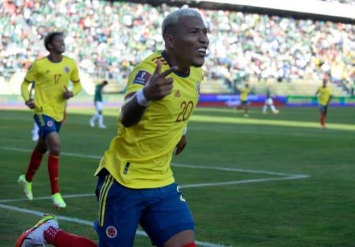 Roger Martínez abrió el marcador en el empate 1-1 de Colombia ante Bolivia.
