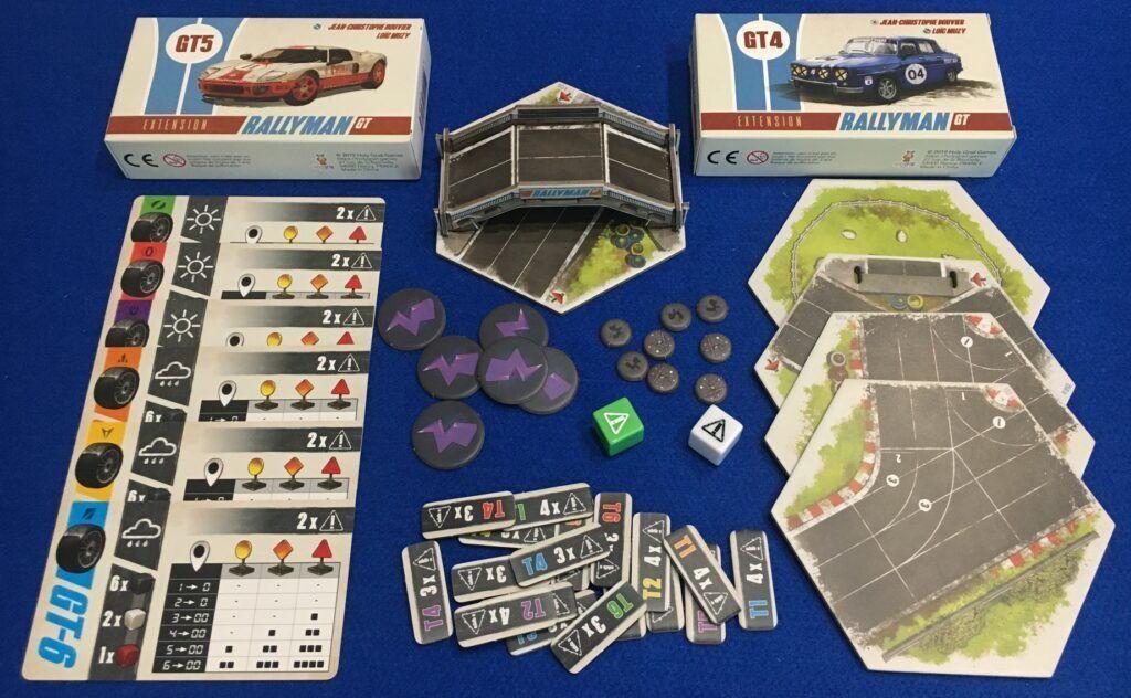 Componentes de las expansiones de Rallyman Gt