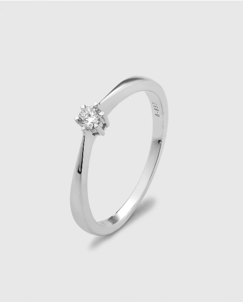 anillos de compromiso - solitario