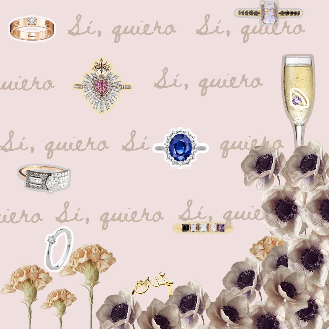 Sí, quiero… Estos anillos de compromiso