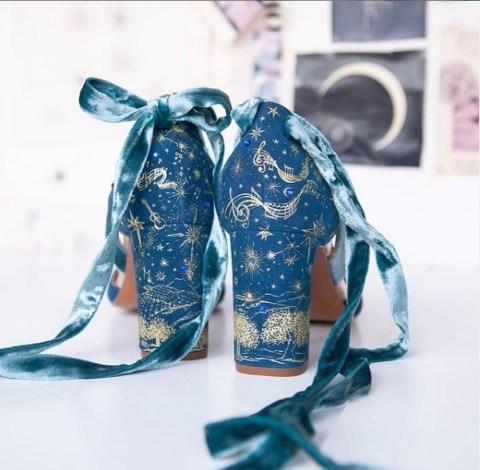 zapatos pintados a mano novias
