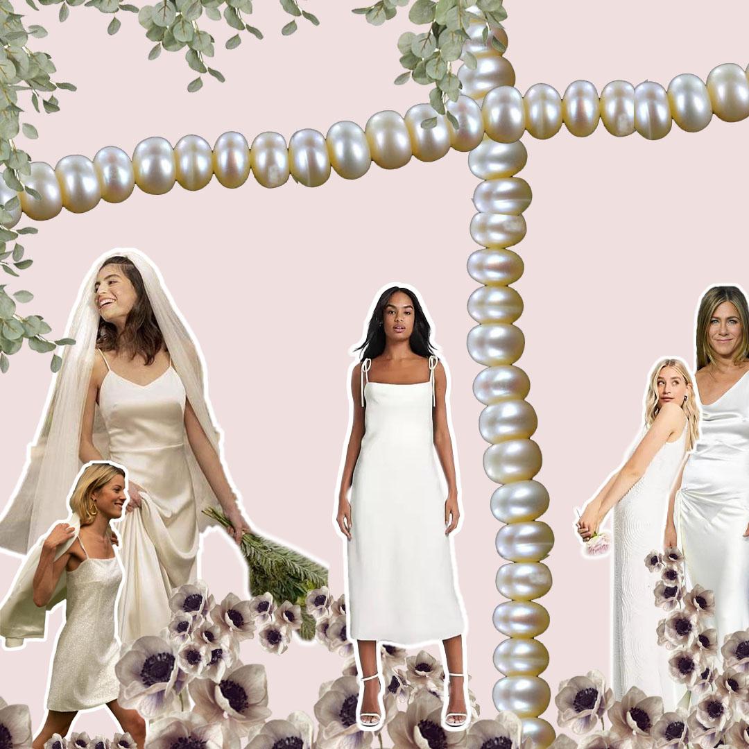 Inspiración: vestidos lenceros para novias