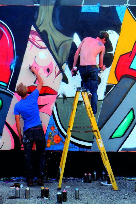 DPN10T Miami Florida Wynwood Art District Art Basel muralist mural spray painting man artist painter