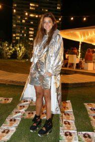 Calu Rivero, una fiel exponente del glamour en la Sunset Party de El Planeta Urbano en el The Grand Hotel de Punta del Este.