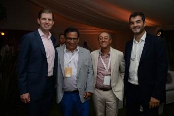 Eric Trump junto a Felipe Yaryura, Moisés Yellati y Juan Cruz Cugliandolo, del Development Group.