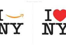 La frase I love New York se tropicaliza en el Amazon logo.