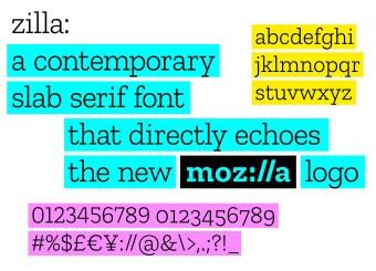 Tipografía Zilla
