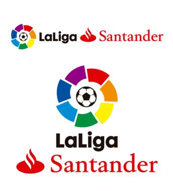 El logo junto a Santander