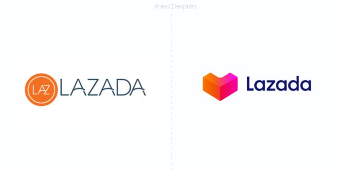 lazada sitio de comercio electrónico del sudeste asiático agrega un corazón a su logotipo