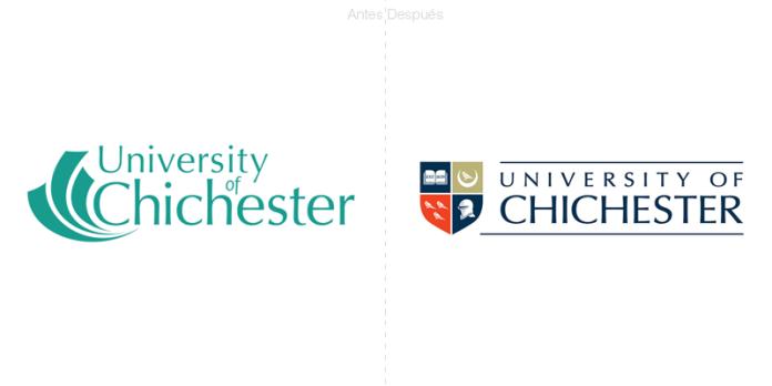 universidad de chichester, nuevo logotipo