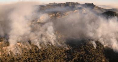 Continúan trabajos en el incendio de Sierra de San Miguelito (SEDENA ordena NO drones) ( fotos)