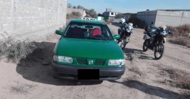 Recuperan taxi con reporte de robo