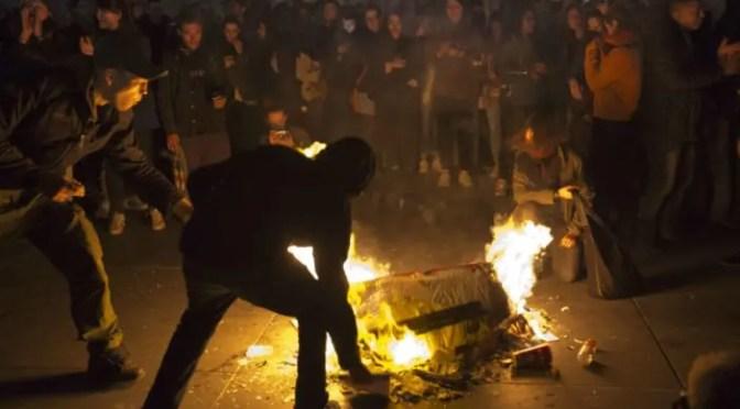 Francia: jóvenes protestan contra la segunda vuelta presidencial entre Le Pen y Macron