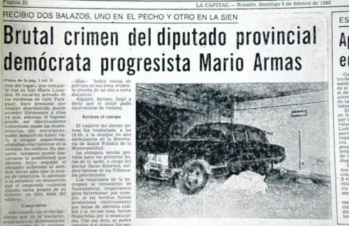 Argentina: a 32 años del asesinato del abogado rosarino Mario Armas