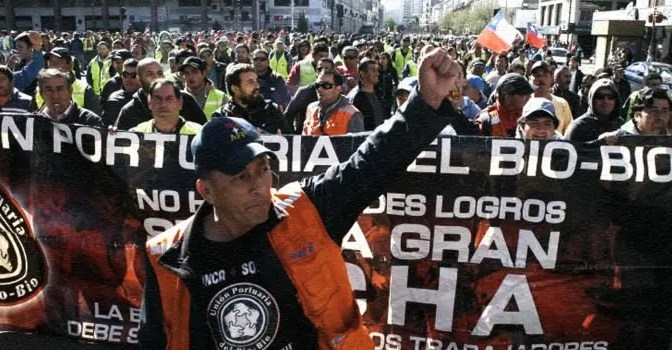 San Vicente-Talcahuano: Boicot a cualquier nave que sea atracada por remolcadores del Grupo Ultramar, no será atendida.